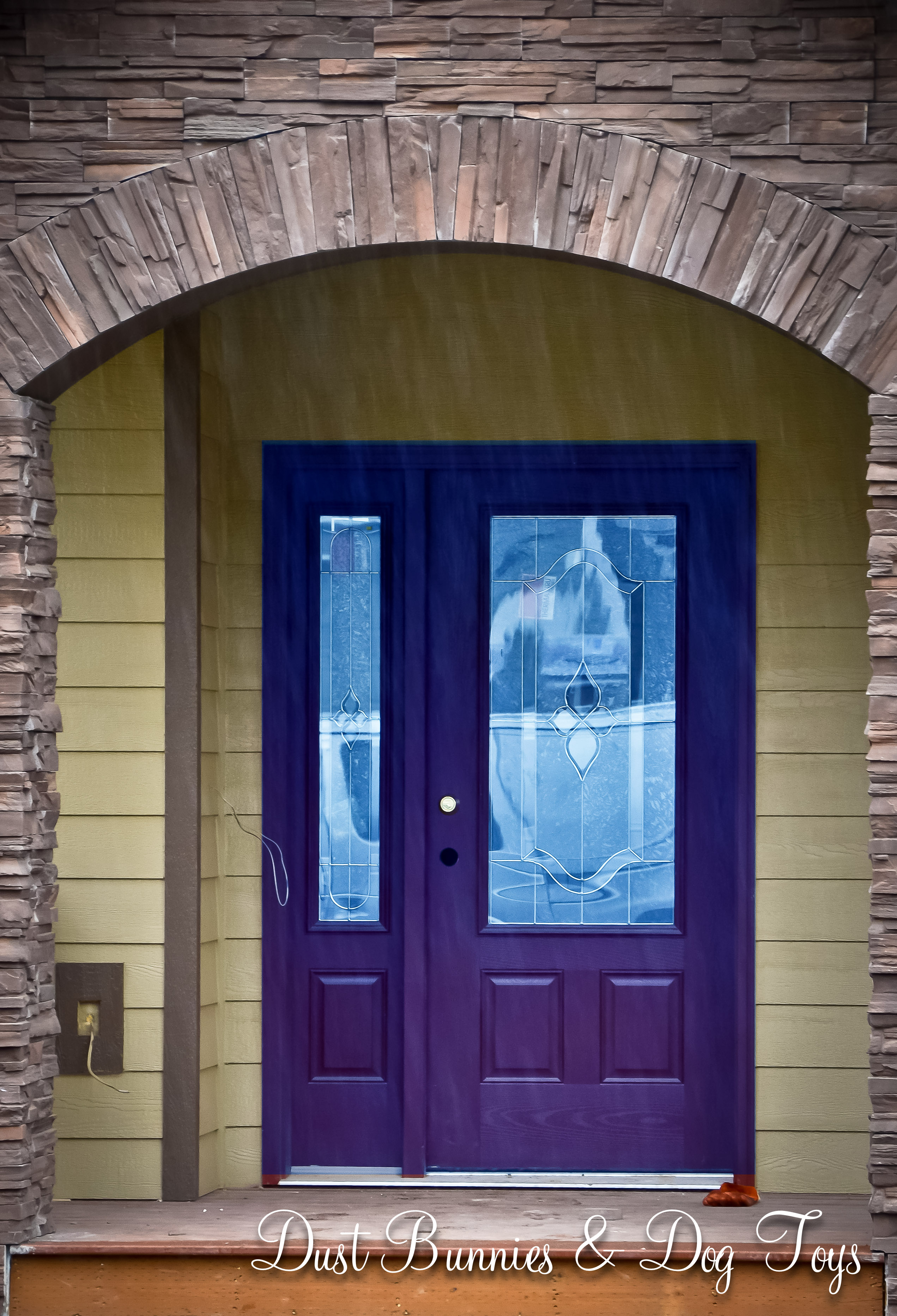 3732 #246CA7 Door1 wallpaper Purple Front Doors 47052543
