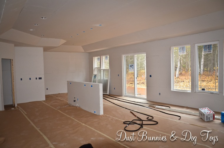 Kitchen and dining room from the front entry way.