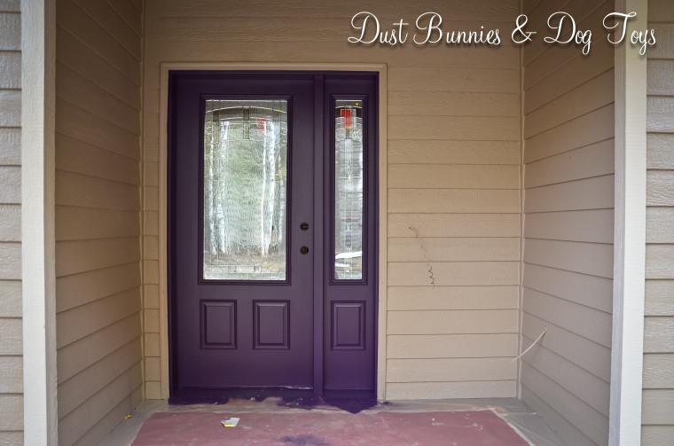 My purple front door!