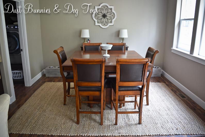 When Our Old Dining Room Wool Rug Develed A Hole I Began The Hunt For A Replacement I Eventually Decided To Go Neutral With A Jute Fiber Rug And Found