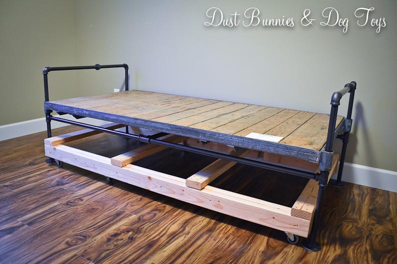 Diy Industrial Cart Bed Dust Bunnies And Dog Toys
